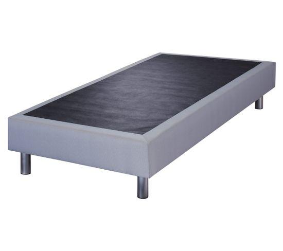Sommier tissu gris 80x200 cm DODO CONFORT