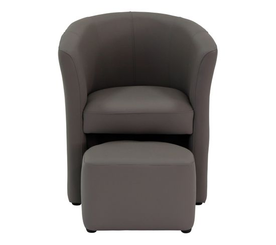 Fauteuil cabriolet taupe CLAYTON PU taupe