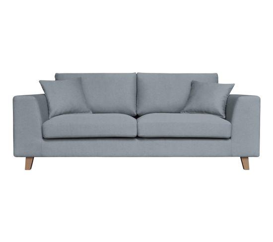 canap 2 places bilbo tissu gris bleu canap but. Black Bedroom Furniture Sets. Home Design Ideas