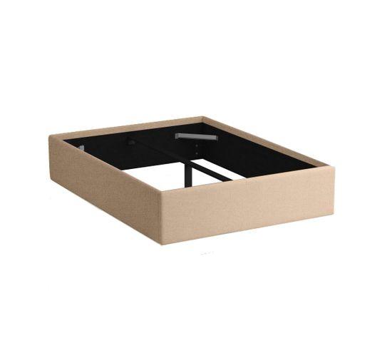 cadre de lit 140x190 cm dream beige lit but. Black Bedroom Furniture Sets. Home Design Ideas