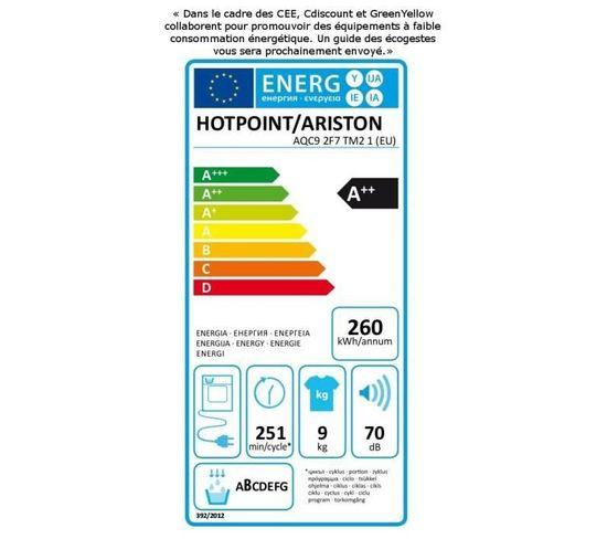 Sèche linge hublot HOTPOINT AQC92F7TM21 SoftDry
