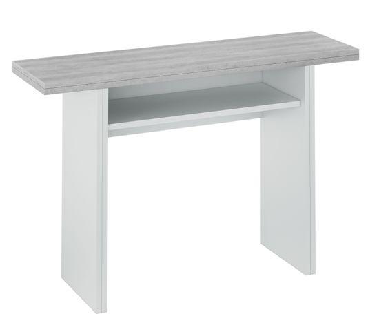 Imitation Table Liguini Extensible But Béton Et Console Blanc lJTFK1c