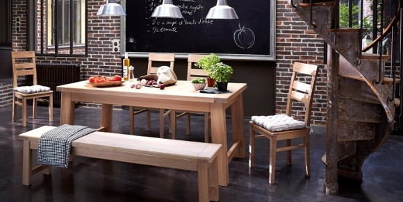 les cuisines am nag es au style authentique gr ce aux fa ades en bois. Black Bedroom Furniture Sets. Home Design Ideas